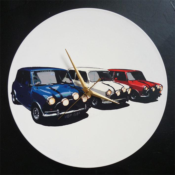 1969 Italian Job Mini Coopers 12 Vinyl Record Wall
