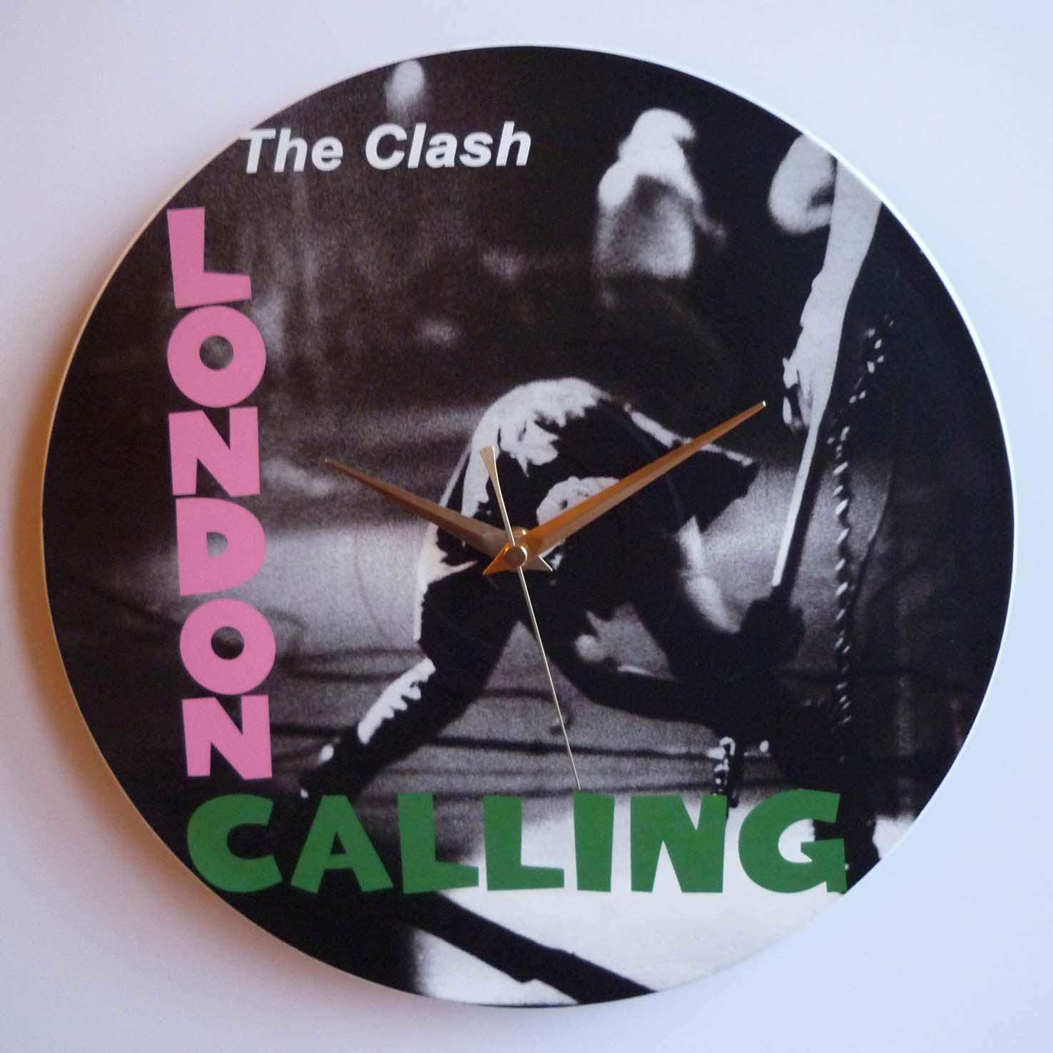The Clash London Calling 12 Vinyl Record Wall Clocks
