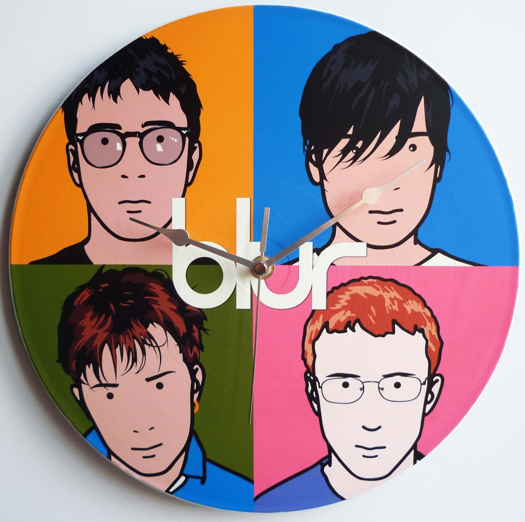 'Blur – Best Of' – 12″ Vinyl Record Wall Clock