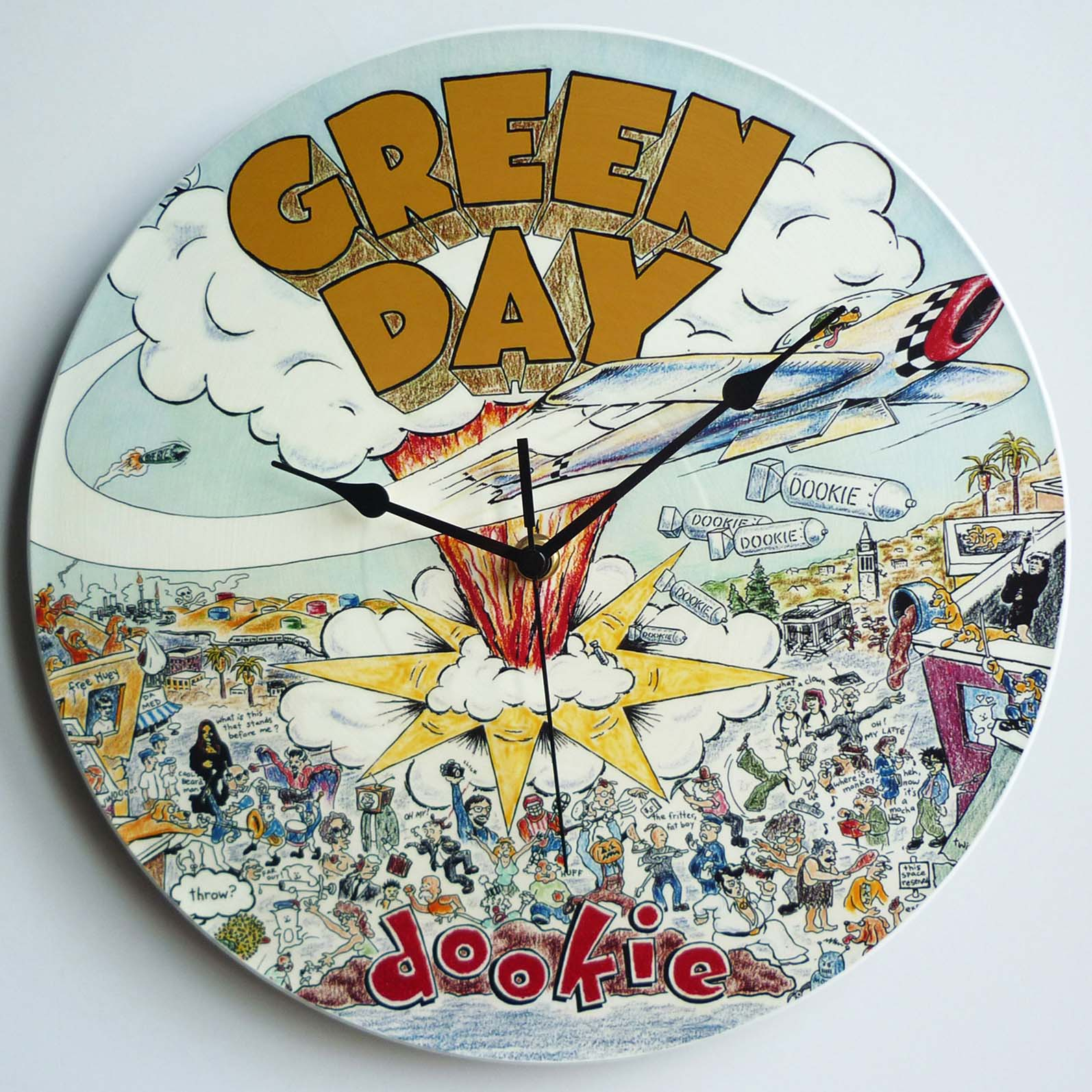 Greenday Dookie 12 Lp Vinyl Record Wall Clock The