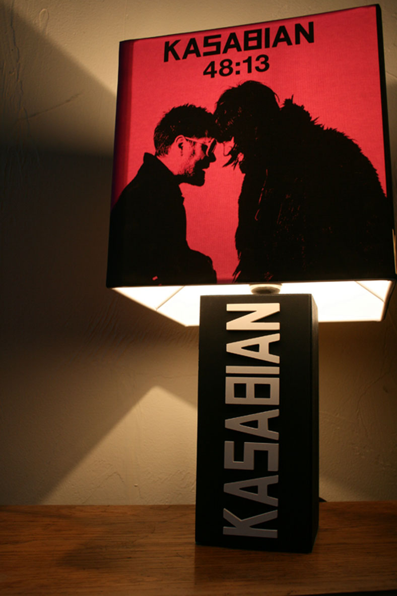 Handmade Kasabian Lamp Album Cover Shade The Records
