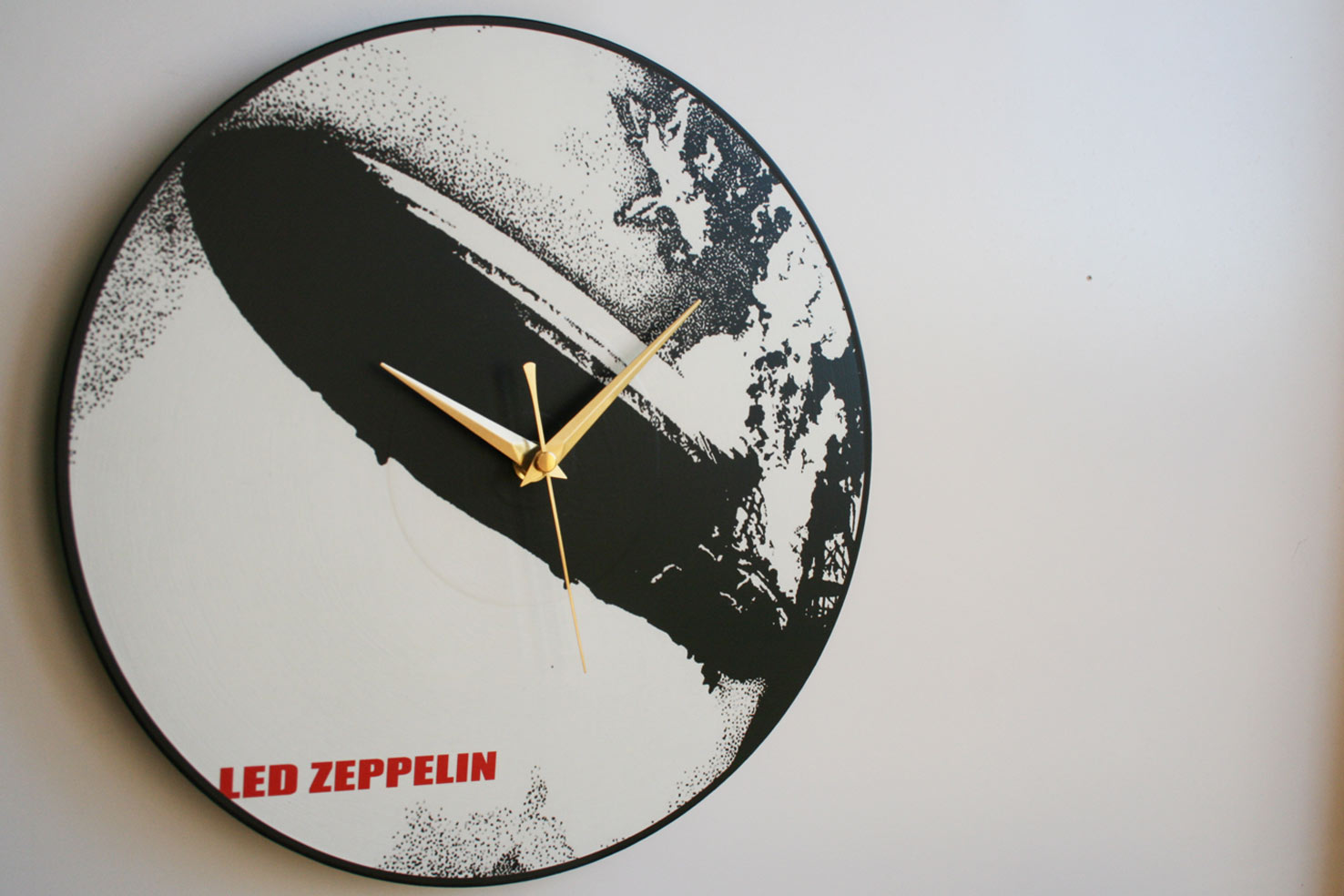 Led Zeppelin Collection 12 Lp Vinyl Record Wall Clocks